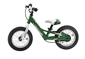 "Tykesbykes Charger Kids Balance Bike, 12"" Wheel, Green"