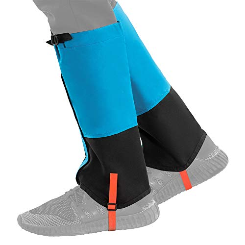 KingCamp Unisex Waterproof Snow Leg Gaiters for Skiing Mountain Hiking Backpacking (1 Pair)