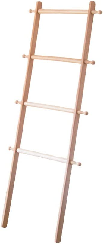 Percheros Nordic Coat Rack Madera Maciza Pequeña Escalera Dormitorio Baño contra La Pared Toalla Almacenaje Percha: Amazon.es: Hogar