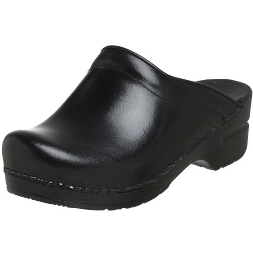 Dansko Women's Sonja Cabrio Leather Clog,Black,37 EU / 6.5-7 B(M) US by Dansko