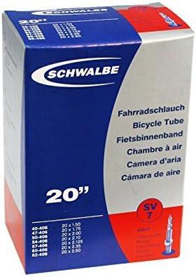 Presta Valve 2 Pack Schwalbe SV7 Bicycle Inner Tubes 20 x 1.5-2.50