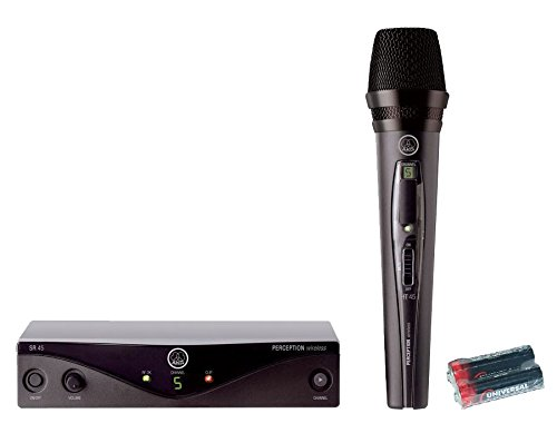 AKG Perception Wireless Vocal Set High-Performance Wireless Microphone System Band A with 2 Free Universal Electronics AA Batteries by AKG
