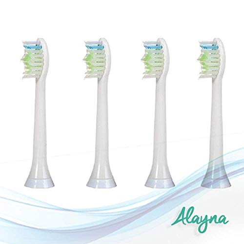 (Philips Sonicare Replacement Toothbrush Heads Diamond Clean Plaque Removal, Sensitive Ultra Soft Electronic 4 Pack Refill)