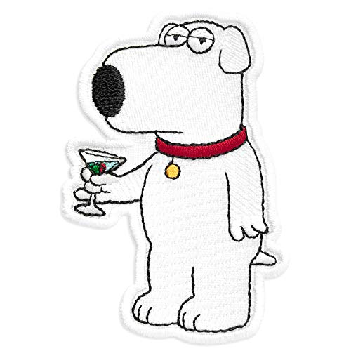 Family Guy Brian Griffin Cartoon Comics Embroidered Patch Iron On (2.5