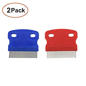 2 Pack Pet Dog Cat Flea Comb Tear Eye Stain Remover Combs, Hair Brush Effectively Clean and Removes Tangles, Dirt, Fleas… Click on image for further info.
