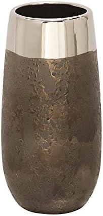 Deco 79 CER Metallic Vase 5 W, 10 H-42353, 5 x 10