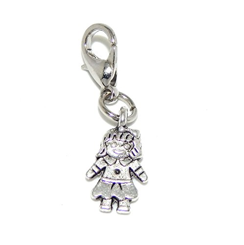 Silver Plated Dangling Clip-on