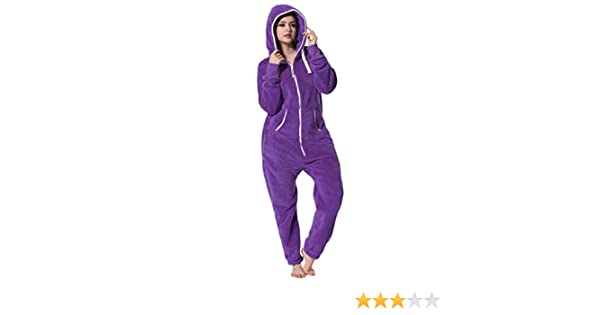 STRIR Mono Pijama de Mujer de Tejido Polar, Pijama Entero para ...