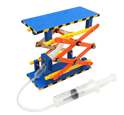 lala dream DIY Hydraulic Platform Scissor Lift Table DIY Toy Model Accessories Children Science Technology Small Production Making ()