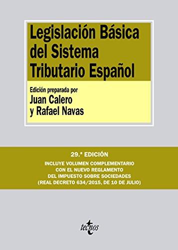 Descargar Libro Legislación Básica Del Sistema Tributario Español Editorial Tecnos