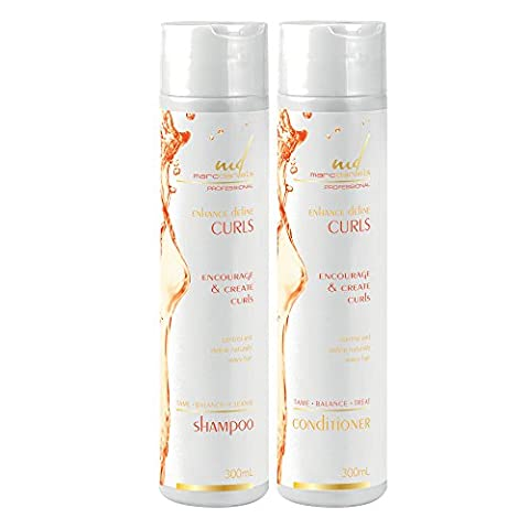 MARC DANIELS Shampoo and Conditioner Set for Curly Hair. Enhance, Define and Create Curls and Waves. Natural Anti Frizz, Moisturizing. Color (Wave Conditioner)