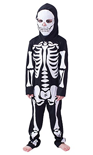 DressVogue Halloween Full Face Hoodie Skeleton Costumes for Boys Toddler Infant]()