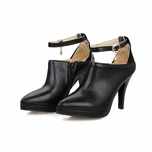 Charm Foot Fashion Womens High Heel Ankle Dress Boots Black QuRbVqBRRj