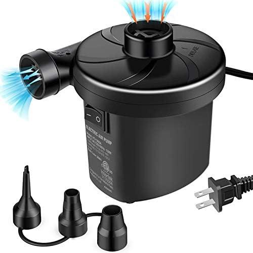 [해외]semai 전기 공기 펌프 휴대용 퀵-필 에어 펌프 팽창식 소파 에어 매트리스용 수영 링 팽창식 풀 장난감 강력한 전기 팽창기공기 공기 펌프 3개의 노즐 110-240V AC / semai 전기 공기 펌프 휴대용 퀵-필 에어 펌프 팽창식 소파 에어 매트리스용 수영...
