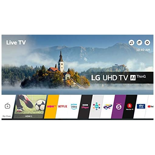 LG 55UK6300PLB 55-Inch UHD 4K HDR Smart LED TV with Freeview Play – Black (2018 Model)