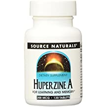 Source Naturals Huperzine A 200mcg Brain Nutrition For Learning & Memory - 120 Tablets