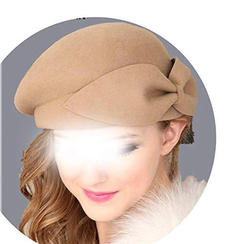 Hat Women French Lady Artist Flat Cap Bow Boina Feminino Hats ()