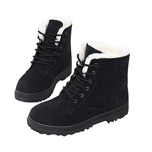 Not100 Womens Winter Fur Snow Boots Sneakers Calde Nere