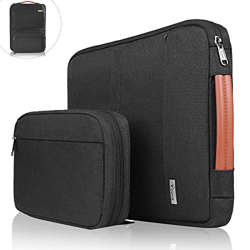 Voova 14 15 15.6 Inch Laptop Sleeve Bag Cover Special Design Waterproof Computer Protective Carry Case with Detachable Accessory Pocket Compatible with MacBook Pro Retina 15
