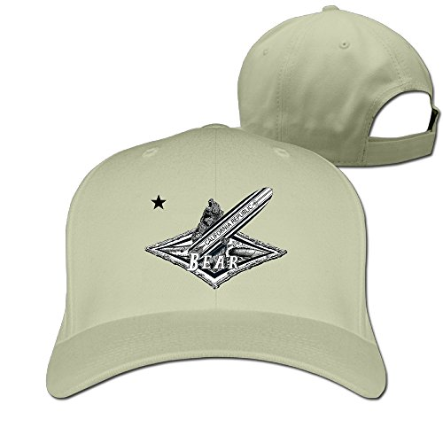 California Republic Surf Bear Funny Lovely Plain Baseball Cap Blank Hat Solid Color (Hoover Jovis compare prices)