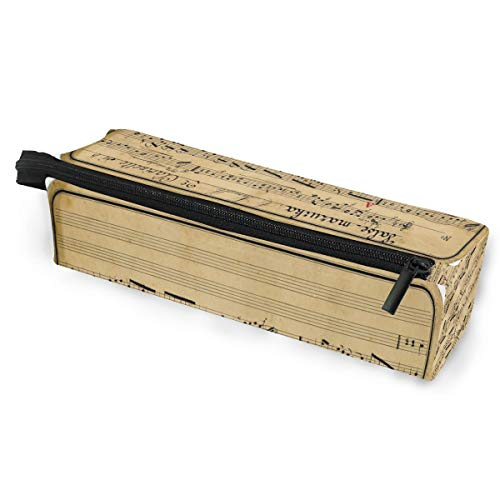 (Glasses Case Vintage Ephemera Graphic Multi-Function Zippered Pencil Box Makeup Cosmetic Bag for)