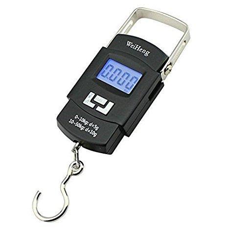 Household Mini Digital Scale Hanging Luggage Fishing Weighing Scale Fine Weighing Balance LCDDisplay