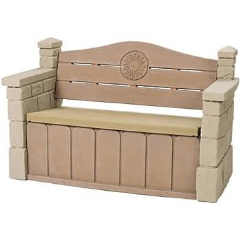 Amazon Com Step2 Outdoor Storage Bench Durable Garden
