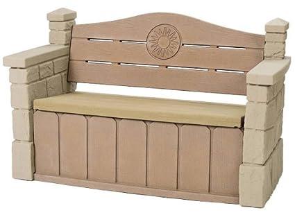 Step2 Outdoor Storage Bench   Durable Garden Deck Seat With Roomy Storage