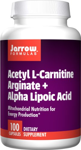 Jarrow Formulas Acetyl L Carnitine Arginate and Alpha Lipoic Acid, Supports Energy, Brain, Memory, Cardiovascular Health, 100 Caps