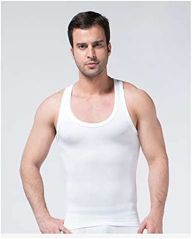 ジムのために女性化乳房Moobs胸スリミングボディシェイパーアンダーおなかコントロールを非表示にスリムメンズコンプレッションシャツ