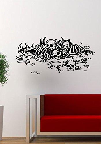 Pile of Bones Decal Sticker Wall Vinyl Art Decor Home Living Room Bedroom Skull Skeleton Halloween]()