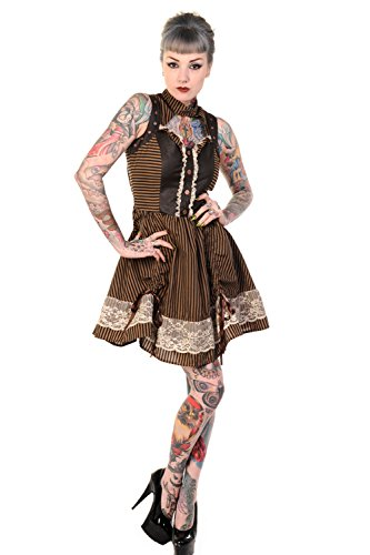 Victorian Gothic Steampunk Sleeveless Mini Dress