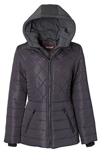 Quilted Hooded Long Down Jacket - 4