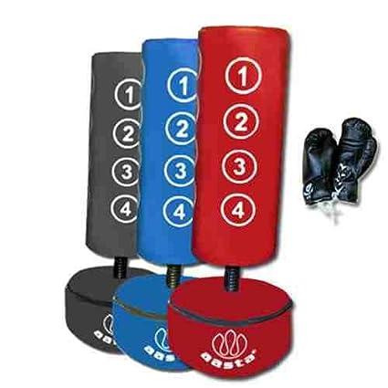 Freistehender Boxsack für Kinder mit Handschuhen