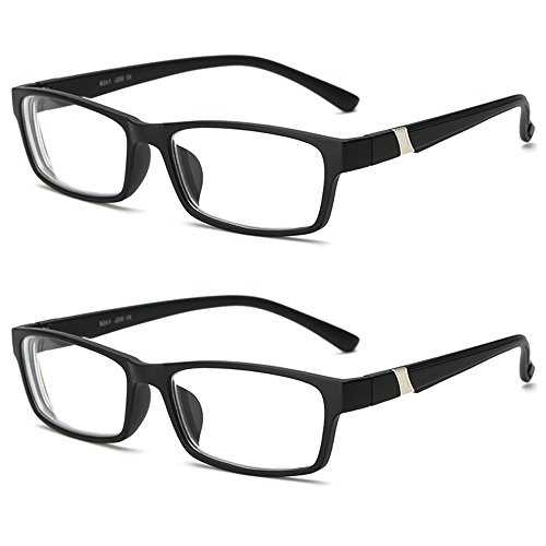 Lasree 2 Pair multi-colored Fashion Glasses Full Rims Nearsighted Myopia Everyday Use Mens Womens Fashion Distance Glasses -1.0 Lenses Black Frame - Amazon Glasses Fashion Prescription Non