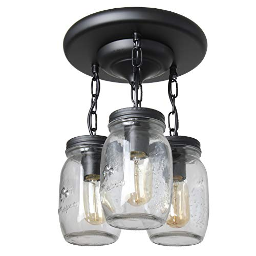 3 Mason Jar Pendant Light in US - 2