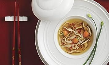 RENÉ Ozorio Aura 2 chopstiks descansa, Feng Shui para cocina comedor, Asia, porcelana