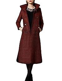 Women's Korean version Slim coat cashmere coat Long Trench Coat Woolen coat
