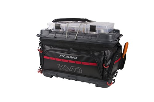 Plano Tackle Storage, KVD Signature Series 3700 Size Tackle Bag, Includes 5 Stowaway Tackle Storage Boxes, No-Slip Molded Bottom Design, Premium Tackle Storage