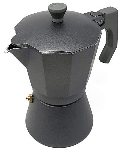 Space Home – Cafetera Espresso en Aluminio – Estilo Italiano – 9 Tazas