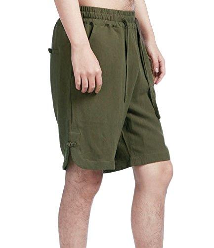 Corto Studio Militar Verde Pantalón Hombre Básico Sk Para Pw8TREqq1