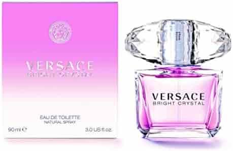 Versace Bright Crystal Eau de Toilette Spray for Women, 3 FL Oz