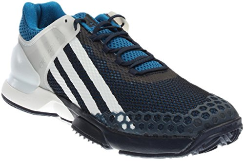 adidas Adizero Ubersonic Clay Mens Tennis Shoe 7 Navy-White-Unity Blue