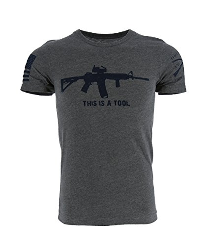 Grunt Style Outdoors - I Am The Weapon Men's T-Shirt, Color Grey, Size Large by Grunt Style