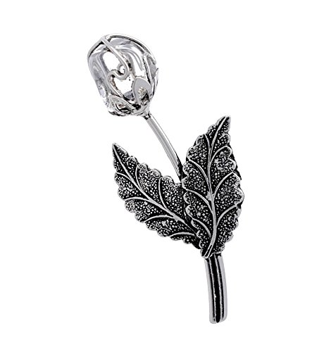 Pierre en cristal transparent en forme de fleur Rose Broche/Pin