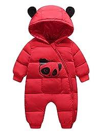 Happy Cherry Baby Warm Jumpsuit Infant Winter Romper Outfit Hoody Coat Snowsuit