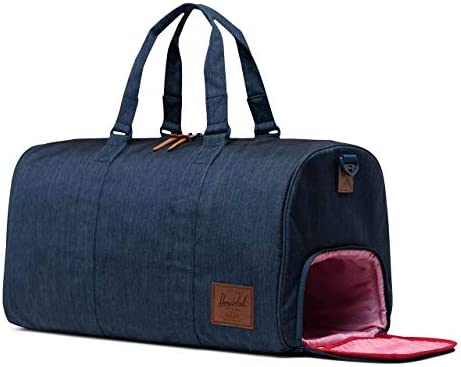 Herschel Novel Duffel Bag, Indigo Denim Crosshatch, Classic 42.5L