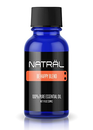 NATRÄL Be Happy Blend, 100% Pure and Natural Essential Oil, Large 1 Ounce Bottle