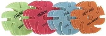 "JoolTool 3M Ninja Trizact Assortment Pack, Green, Red, Blue, Orange (3 of each) 3"" Diameter"