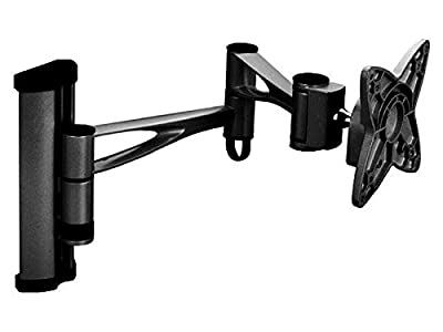 "Black Full-Motion Tilt/Swivel/Rotation Wall Mount Bracket for LG 28LN4500 28"" inch LED HDTV TV/Television - Articulating/Tilting/Swiveling"